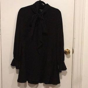 Rachel Zoe black dress with bow detail